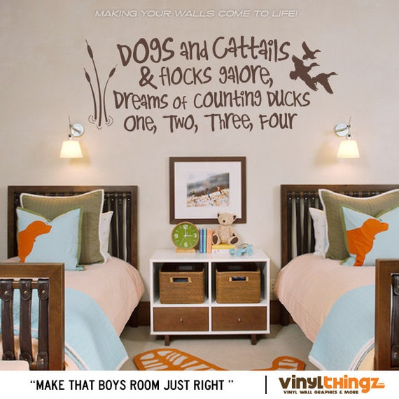 Wall decals nursery hunting fishing ducks baby childrens room to go
