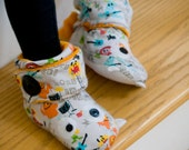 PDF Sewing Pattern - Airmons Button Tab Boots, Children Shoes, Children Slippers, Children Cloth Shoes XS-XL
