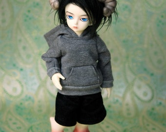 YoSD Clothes Grey Hoody For BJD