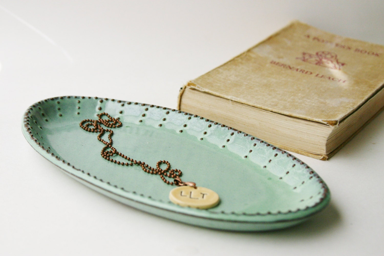 oval platter ceramic serving tray aqua mist modern home - 🔎zoom