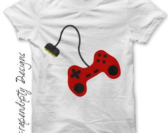 Video Game Iron on Shirt PDF - Controller Iron on Transfer / Kids Boys Clothing Tshirt / Video Game Shirt / Game Controller Printable IT20-C