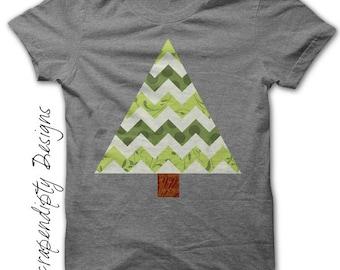 Spring Iron on Shirt PDF - Chevron Tree Iron on Transfer / DIY  Girls Tree Shirt Design / Kids Boys Clothing Tops / Printables AP119