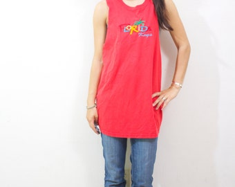 SALE Vintage Retro Red Florida  Tank Top