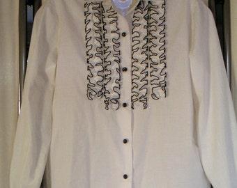 Vintage Blouses. FIVE Vintage Blouses, 1980s.