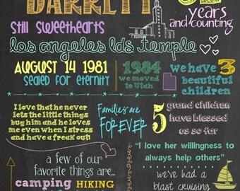 16 x 20 Custom Anniversary Chalkboard PDF