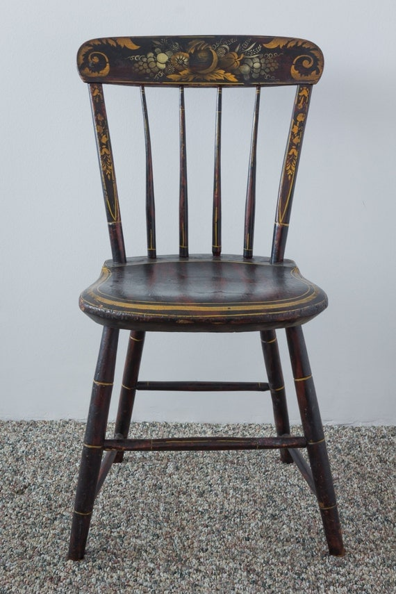 SALE Four Antique Hitchcock Chairs Circa by lavintagefurnishings