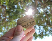 Brown Tags Personalized for Wedding Favors or Escort Cards - Set of 100 - Garden Outdoor Nature Flowers Seeds