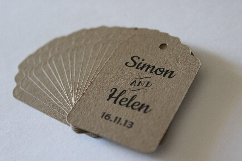 Wedding favor tags rustic wedding boho chic 100 small for Small tags for wedding favors