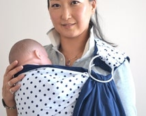 Baby Ring Sling. Baby Carrier. Reversible Baby Carrier.  2 Lyrs of High Quality 100% Cotton. Mono Dot Baby Sling. Baby Carrier With DVD