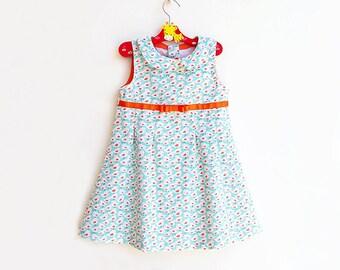 TWEET TWEET Girl Dress sewing pattern Pdf, Sleeveless Sundress, Peter Pan Collar Dress, Pleated Dress, toddler  size 3 4 5 6 7 8 9 10 years