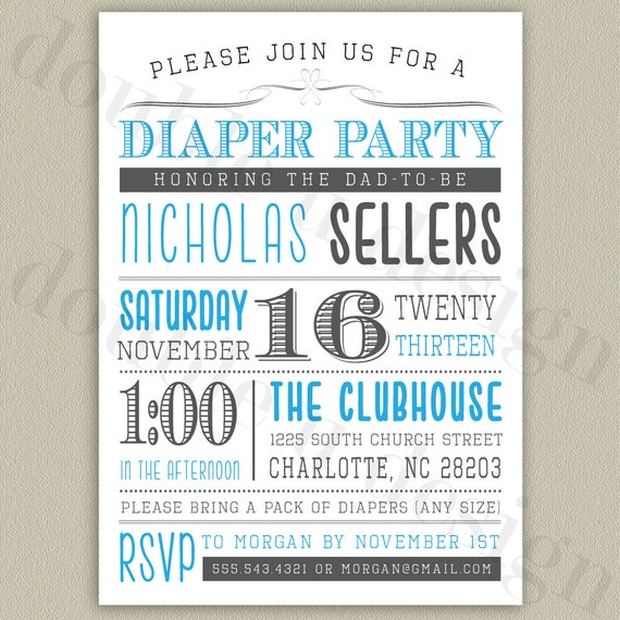 Free Printable Diaper Party Invitations absolutely amazing ideas for your invitation example