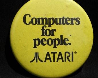 Vintage Atari Computers For People Badge