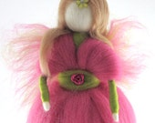 Waldorf  Fairy Needle Felted Fairy Ornament Fairytale Decoration Soft Sculpture Art Doll