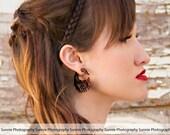 Earrings Fake Gauge Wooden Swan Tribal Organic Earrings - FG049 W G1
