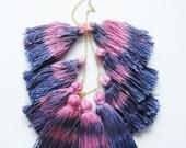 Fairy - hand dyed tassel necklace/ mur Mur