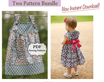Apron Knot Dress and Flutter Top/Dress PDF Two Pattern Bundle