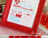 VALENTINES Subway Sign - Printable 8x10 Party Sign, Print Your Own