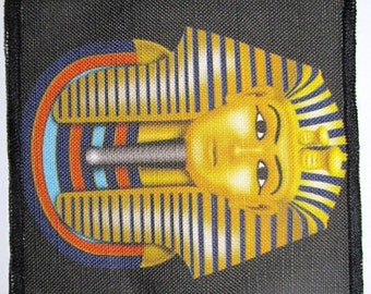 KING TUT - Ancient Egyptian Bad Guy  -  Printed Sew On Patch - Vest, Bag, Backpack, Jacket - p6