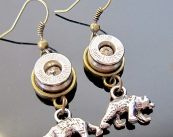 Bullet Jewelry 9MM Bear Earrings Sale Priced Inventory Reduction Sale