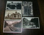 5 Vintage Postcards Scenes of Montecatini RPPC Unused 1930s