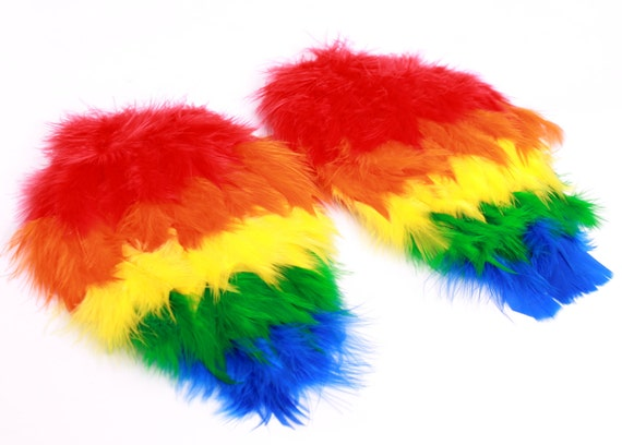 Paradise Parrot Feather Arm Bird Wings - Scarlet Macaw Costume Accessory - Toddler - Child Size