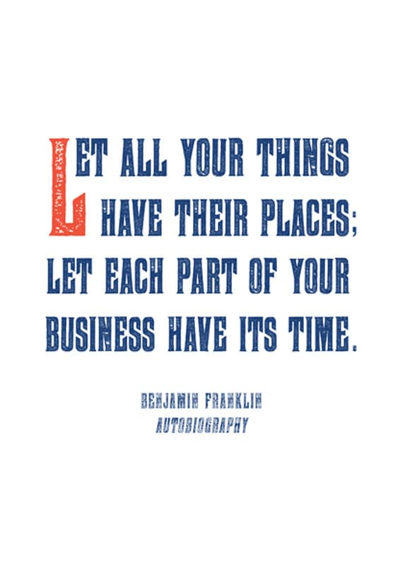 Famous Quote Poster Benjamin Franklin