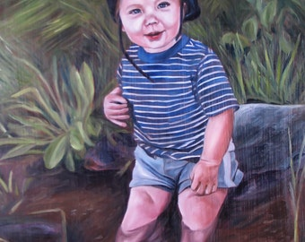 Custom Portrait - Photo to Painting - Oil Painting - Best Gift Idea - 9x12