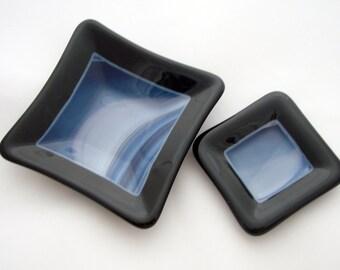 Fused Glass Mini Dish Set