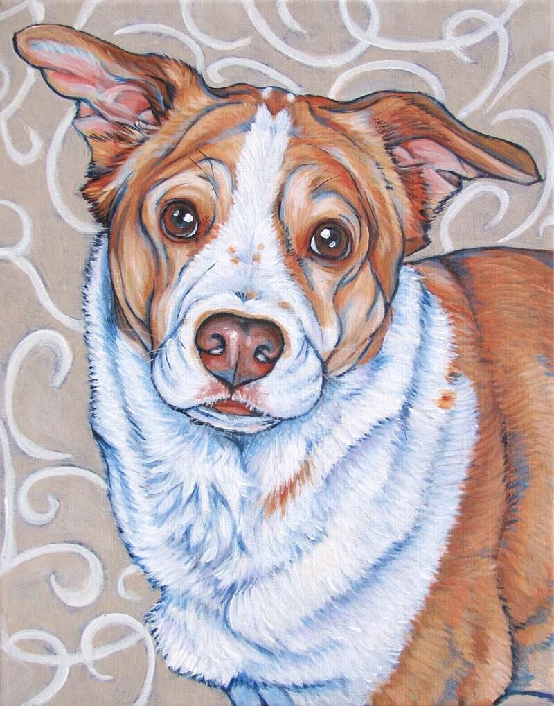 11 x 14 custom pet portrait painting in acrylic on