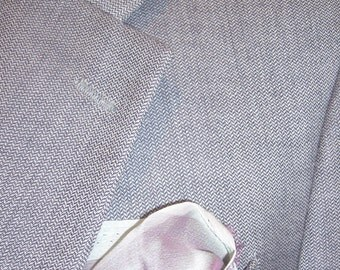 80s  iridescent mini houndstooth grey / purple perry ellis  blazer 39r mb009