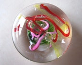 Splashes of Spring - art glass paperweight