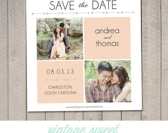 Save the Date Card - Square (Printable) by Vintage Sweet