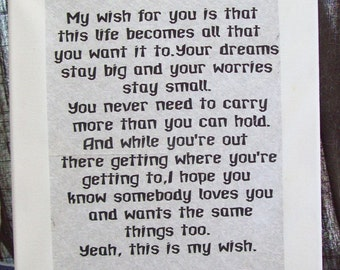 My wish for you-  poem on canvas 11 X 14