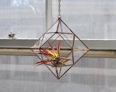 Zephyrus Terrarium, limited edition -- for air plant terrarium or small succulent -- stained glass -- terrarium supplies -- eco friendly