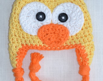 duck hat, crochet duck hat, baby hat, crochet baby hat, baby duck hat, duckling hat