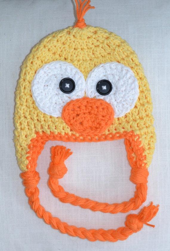 duck hat, crochet duck hat, baby hat, crochet baby hat ...