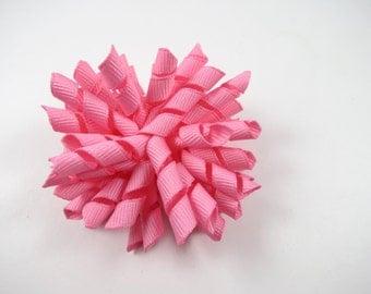 Pink Korker Hair Bow - Pink Hair Bow - Pink Hair Clip - Small Hair Clip - Korker Bow - Pink - Hair Bow