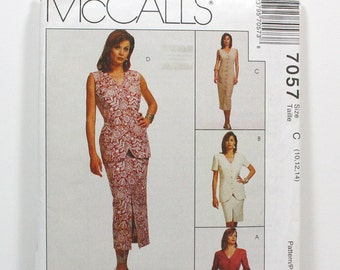 Uncut Sewing Pattern Ladies Wardrobe - Jacket, Vest, Dress and Skirt - McCall's 7057