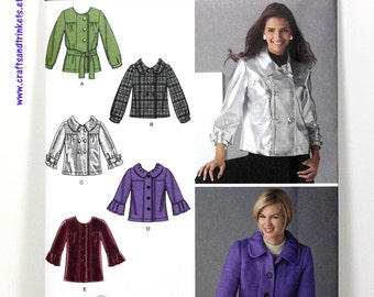 Uncut Sewing Pattern - Misses Jacket - Simplicity 2762 - Two Lengths and Sleeve Variations