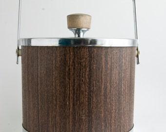 Vintage Ice Bucket, Atapco Retro Ice Bucket, Vintage Bar Ware, Wine Chiller