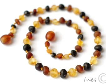 Raw Unpolished Baltic Amber Baby Teething Necklace 107