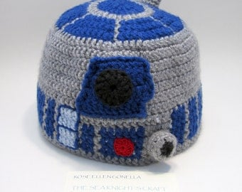 R2D2 Crocheted Cap, Made to Order