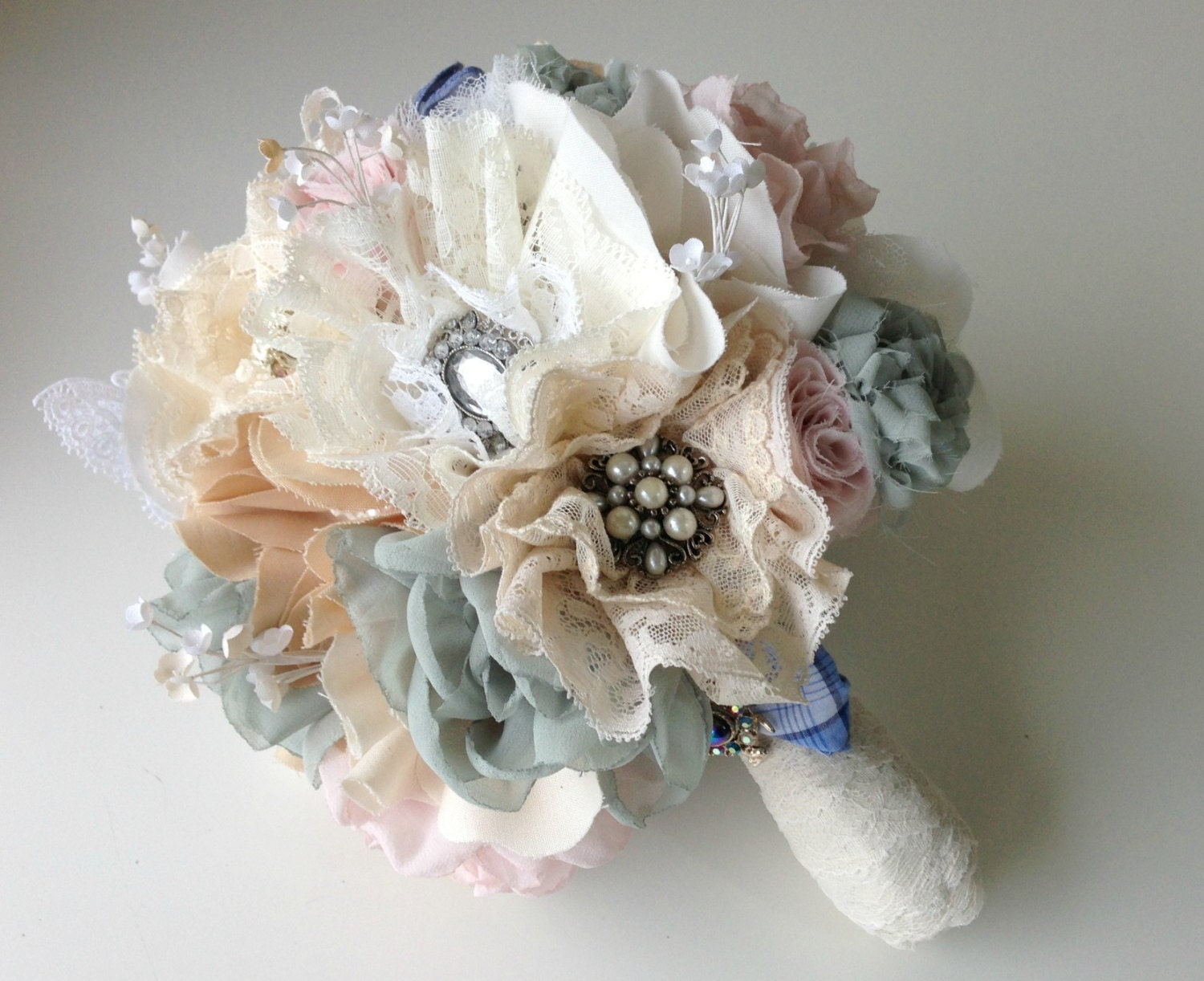 Items Similar To Fabric Wedding Bouquet