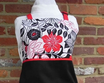 Apron red, black, and white