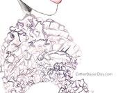 Watercolor Fashion Illustration Couture Details Painting Fine Art Print