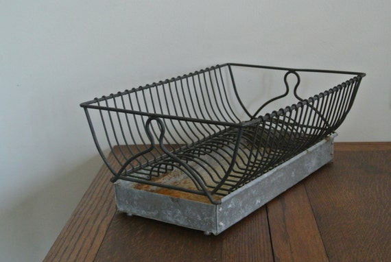 Vintage Dish Drying Rack W Catch Basin By Pepeandcarols