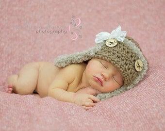 Baby Hat, Toddler Hat, Newborn Hat, Flower Hat, Baby Beanie, Toddler Beanie, Newborn Beanie, Crochet Baby Hat, Avaiator Hat, Baby Girl Hat
