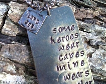 Police Officer Wife Necklace Police Officer wife jewelry Sheriff Deputy Wife Police Law Enforcement Military Marine Army hero Necklace