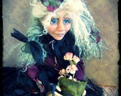 SALE - Goth Art Doll - Acheflour