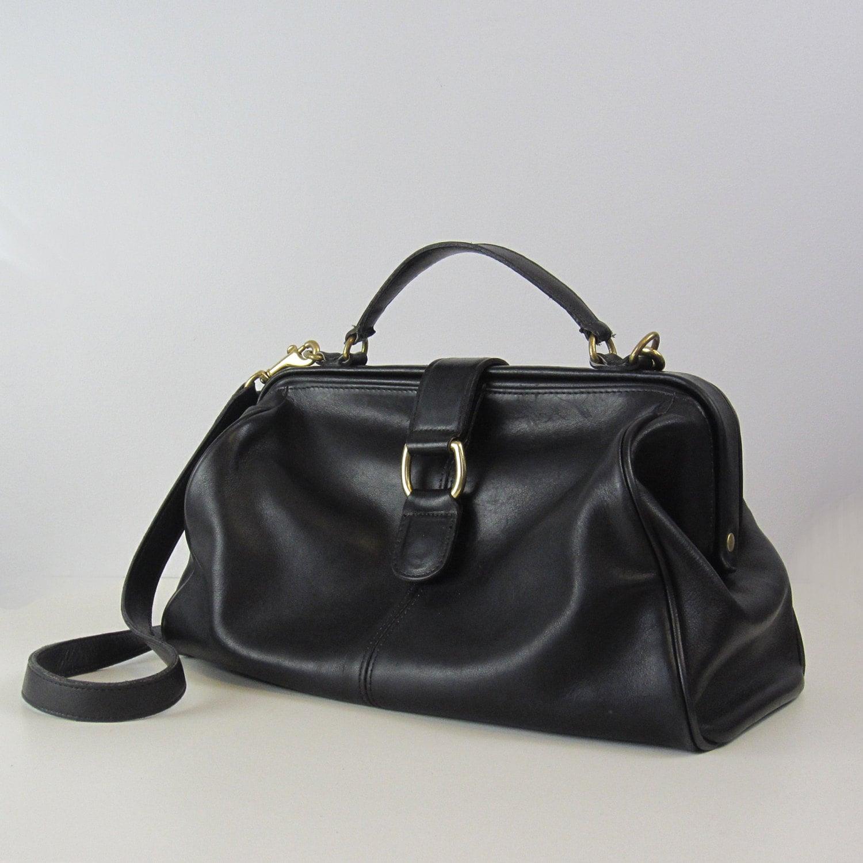 Vintage Coach Bag Doctors Bag Black By Archetypevintage